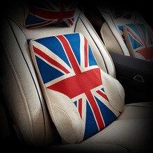 English style Colour linen Car-Pillow Cushion Seat Back-Rest Memory-Foam Avenger Auto-Accessories Lumbar Universal 5D