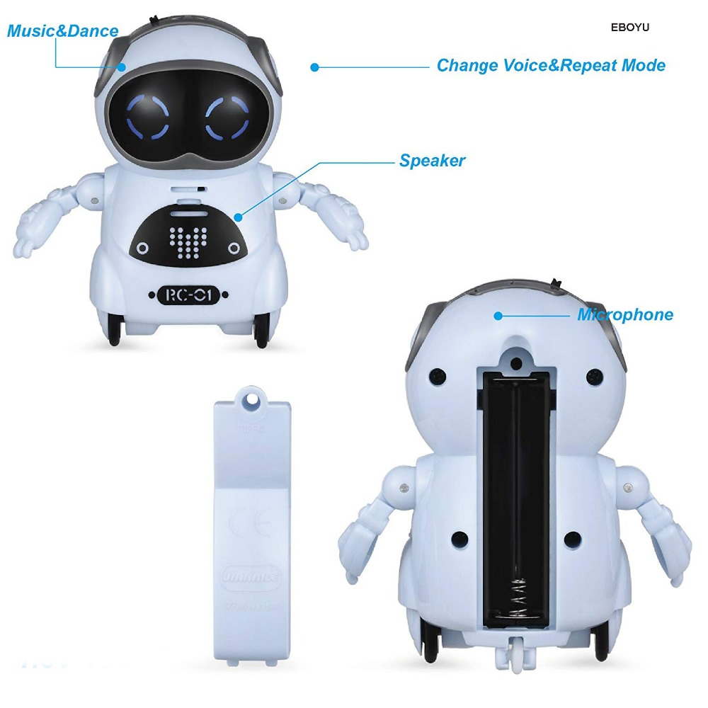 Pocket Robot Talking Interactive Dialogue Voice Recognition Record Singing Dancing Telling Story Mini Intelligent Robot Toy 3