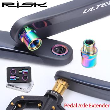 Ryzyko rower tytanowy pedał wydłuż śruby osiowy rdzeń MTB górska droga pedał łożysko Extender osiowe przedłużenie pedału tanie i dobre opinie RISK