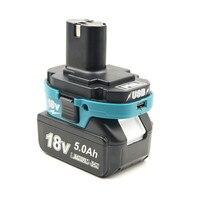 Adaptador de batería herramienta de convertidor para Makita 18V BL batería de iones de litio a Makita 18V ni cd Ni MH batería de iones de litio cargador USB para teléfono|Accesorios para baterías|Productos electrónicos -