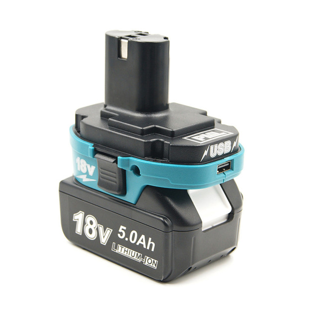 Battery Adapter Converter Tool for Makita 18V BL Li ion Battery to Makita 18V NI Cd Ni MH Li ion Battery USB Charger For phone