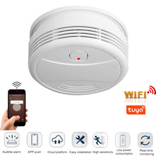 WiFi Smoke Detector home security Fire Alarm system Tuya smart Smoke Alarm APP message push 95db alarm sound no need hub