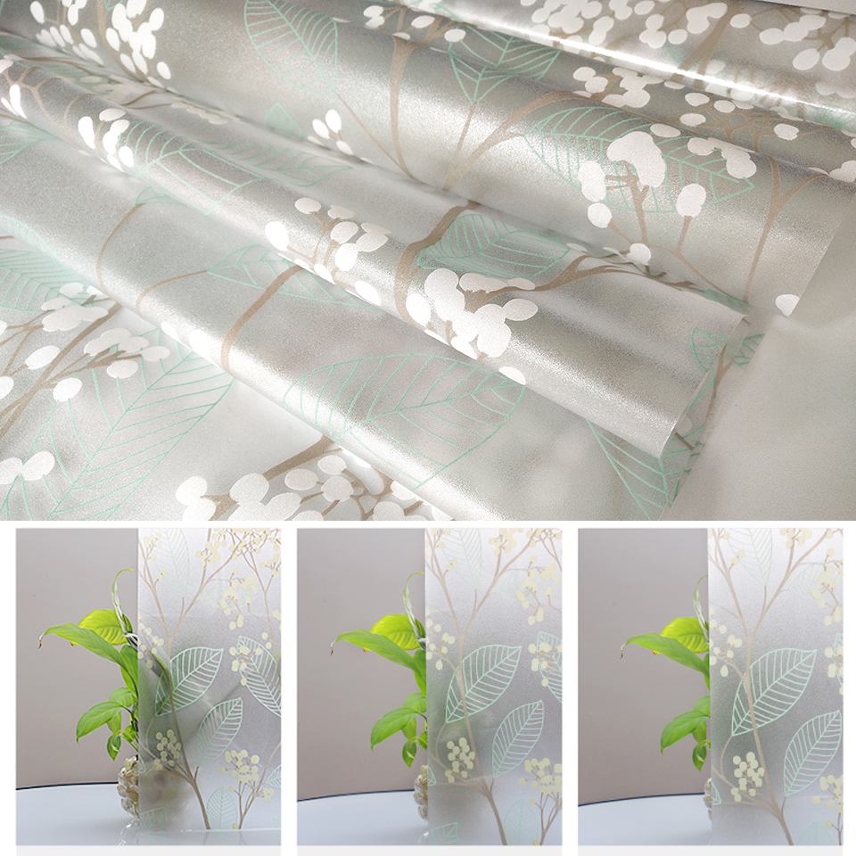 Matte Window Film Stained Glass Decorative Uv Window Sticker Privacy  Frosted Self Adhesive Film Window Decal for Glass 6