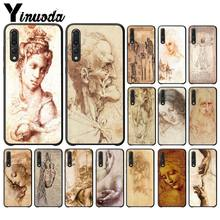 Italy Leonardo Da Vinci Art Work Painting TPU Phone Case For Huawei P20 P30 P9 P10 P8 lite 2016 2017 P20 pro P10 lite(China)