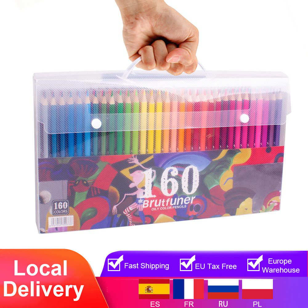 Pencils-Set Art-Supplies Oil-Drawing Wood Sketch School-Gifts Colored 72 120 48