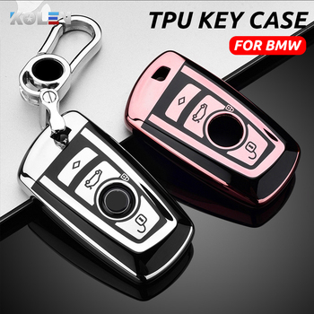 Soft TPU Car Remote Key Case Cover Protective Shell Fob For BMW F10 F11 F20 F25 F26 F30 1 3 5 7Series 118i 320i X3 M3 X4 E34 E36 image