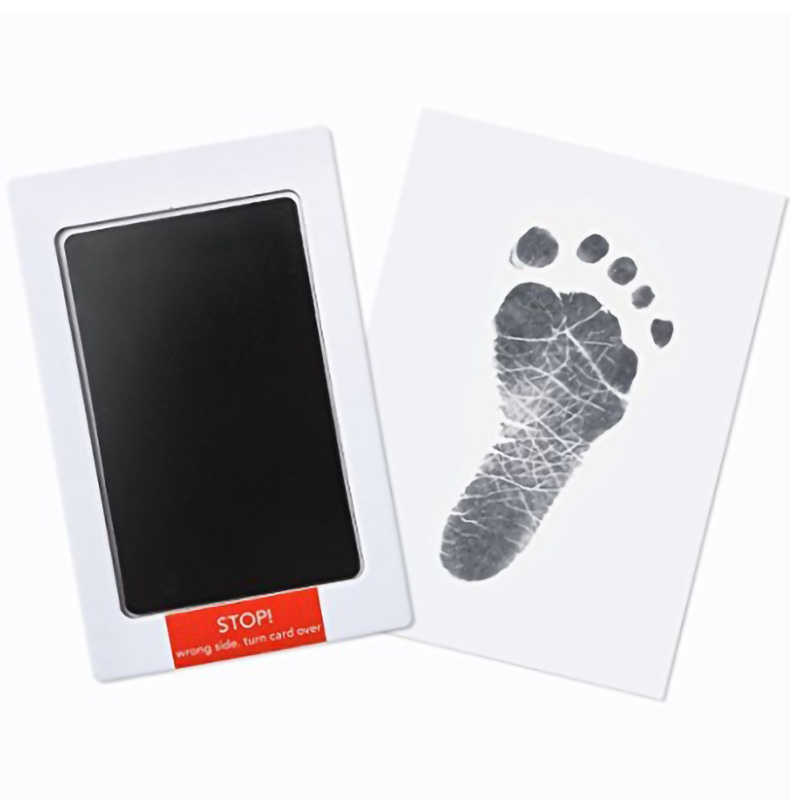 No contact ผิว Handprint Footprint ปลอดสารพิษทารกแรกเกิดพิมพ์ Inkpad ลายน้ำทารกของที่ระลึก Casting Clay ของเล่นของขวัญ