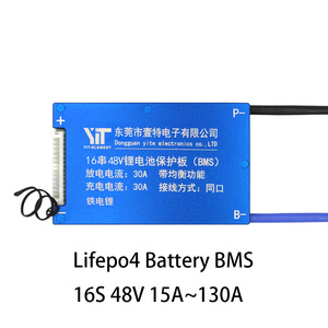 Image 2 - 16S 48V BMS Lifepo4 Batterij Bescherming Boord Balanece Waterdichte Tempo Controle DIY Gadget Mobiele Balancer Accessoires Voor Ebike