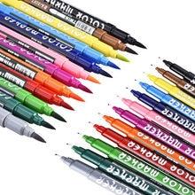 12 цветов маркеры двойная Акварельная кисть маркер цветная ручка