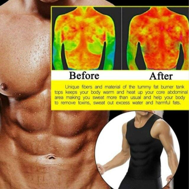 Men's Slimming Body Shaper Modeling Vest Belt Belly Men Reducing Shaperwear Fat Burning Loss Weight Waist Trainer Sweat Corset 2