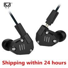 KZ ZS6 2DD + 2BA באוזן אוזניות היברידי HIFI בקרת תהליך ריצה ספורט DJ אוזניות Earplug אוזניות Earbud ZS5 ZS10 ES3 ED12 ED4 AS10