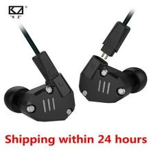 سماعات أذن KZ ZS6 2DD + 2BA في الأذن سماعة هجينة HIFI Monito رياضية للركض دي جي سماعات أذن لسماعة أذن ZS5 ZS10 ES3 ED12 ED4 AS10