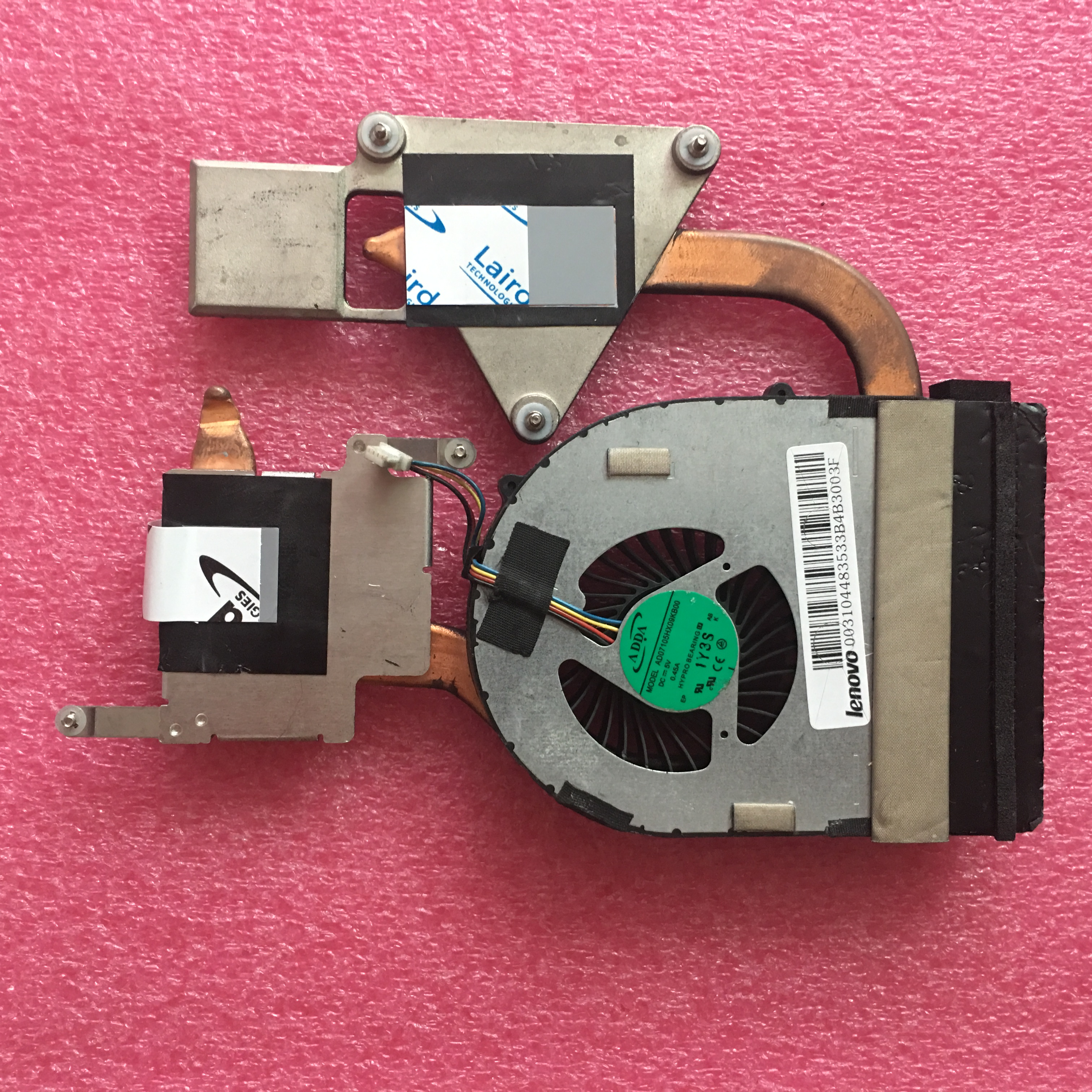 Original Laptop Lenovo Z570 CPU Cooling Fan, Heatsink Assembly Radiator Cooler 31049315
