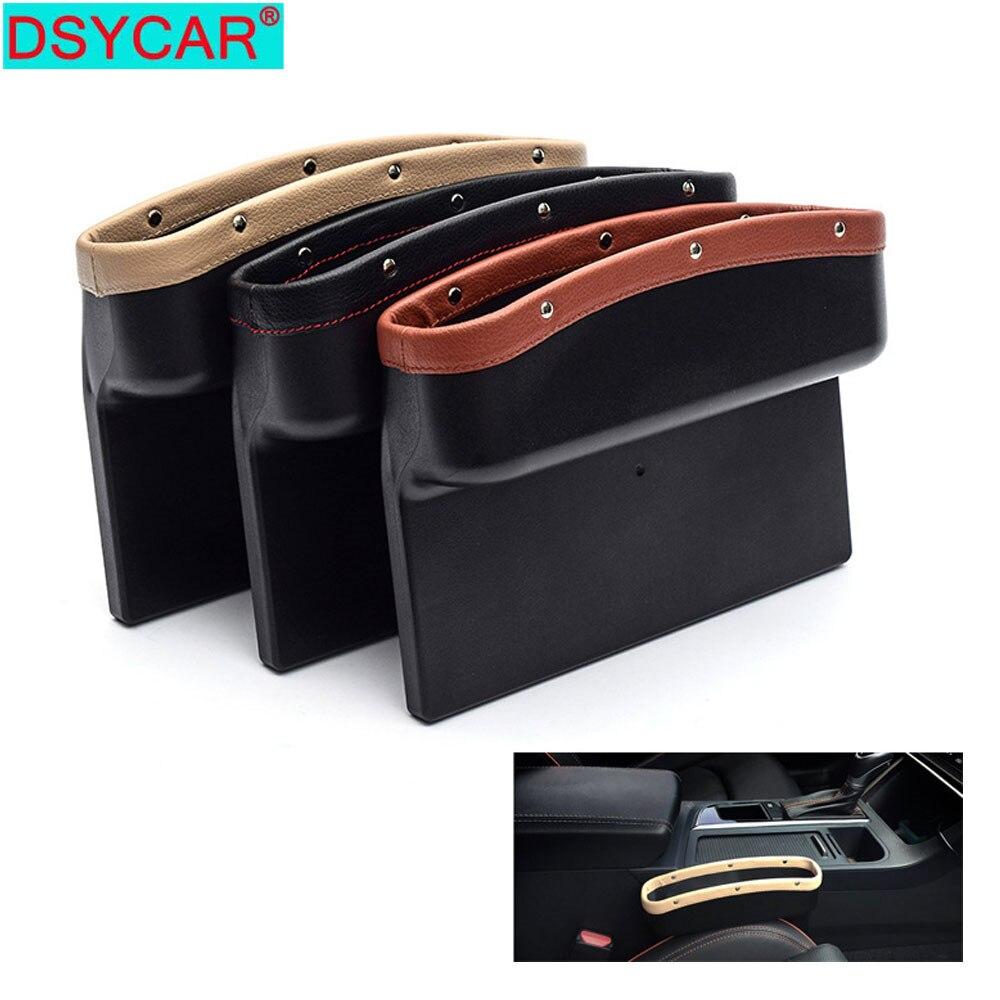 DSYCAR 1Pcs Car Seat Gap Filler Organizer Pocket Catch Caddy Side Seats PU Leather Storage