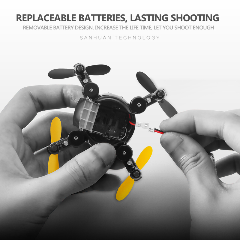 cheapest Mini Folding Drone with HD WIFI Aerial Photography Remote Control Small Aircraft for Replaceable Battery SH1 Quadcopter