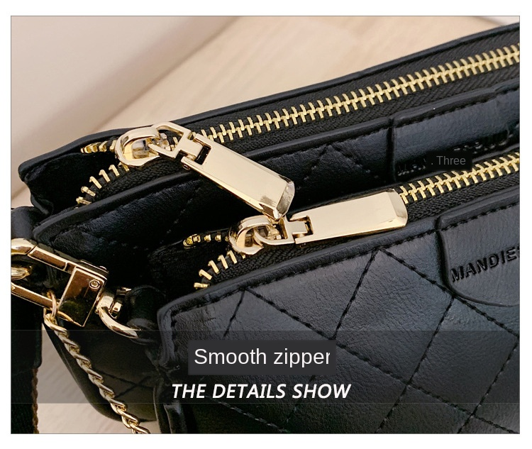 Wild Messenger Shoulder Bags Female Fashion Letter Flap Plaid Chains Zipper Women's Handbags Casual Crossbody Bags Ladies Totes