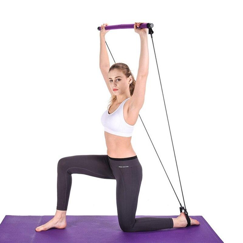 Yoga Resistance Bands Pilates Stick Bodybuilding Gym Rubber Tube Elastic Bands Fitness Equipment Training Exercise
