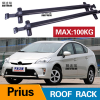 2Pcs Roof bars For TOYOTA Prius Sedan4-dr   2012+   Crew Aluminum Alloy Side Bars Cross Rails Roof Rack Luggage