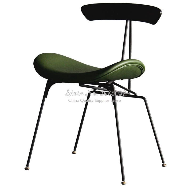 Iron Nordic Net Red Chair Simple Home Industrial Style Dining Stools Designer Leather Creative Ant Leisure Cafe Chairs