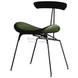 Żelazo Nordic netto czerwone krzesło proste domowe stołki w stylu industrialnym projektant skórzane kreatywne mrówki rekreacyjne krzesła Cafe w Krzesła do kawiarni od Meble na