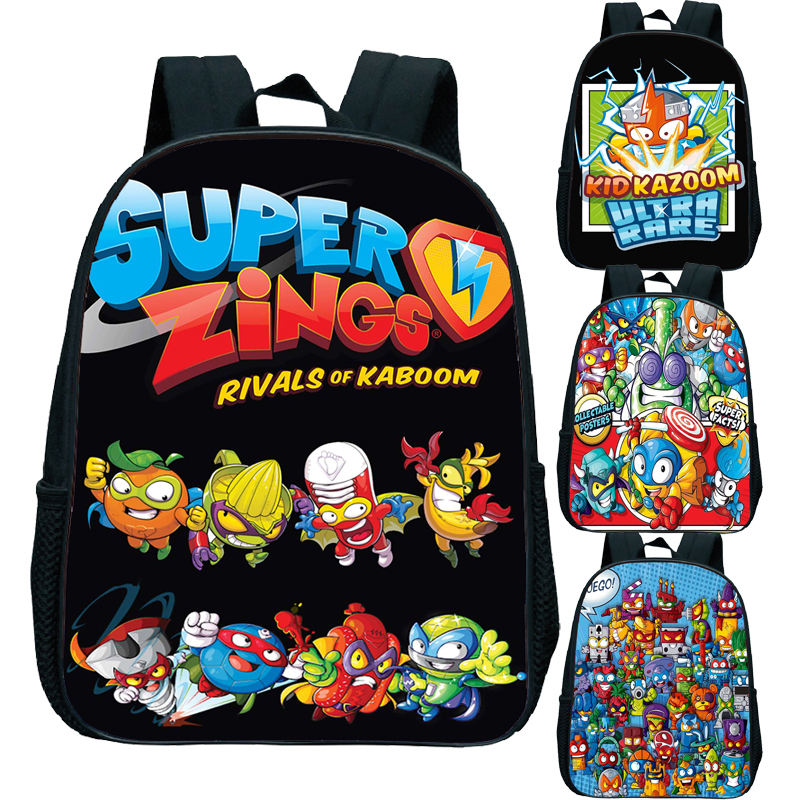 2020 New Children Super Zings Backpack Kindergarten Rucksack Print Primary Schoolbag Superzings Bookbag Child Start School Gift
