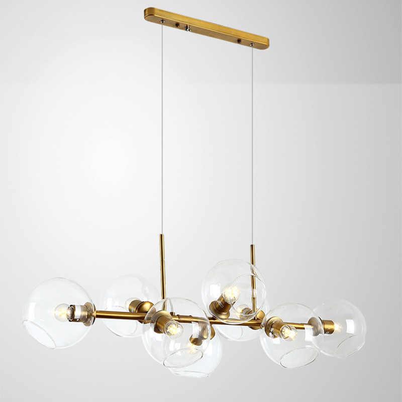 Современный 8 головок Magic Bean подвесные светильники столовая Гостиная кафе кожаные ремни с металлической и золотой домашний светодиодный E27 украсить подвесной светильник