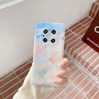 Color de pintura graffi funda de silicona suave para Huawei P20 P30Lite P40 Mate20 30 40 Pro Nova 3 3i 5T 6SE 7SE Honor 10 20 30Pro 8x 9x