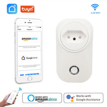 Smart Plug Wifi Socket BR Brazil 16A Power Monitor Tuya Life Voice Control Works With Alexa Google Home IFTTT