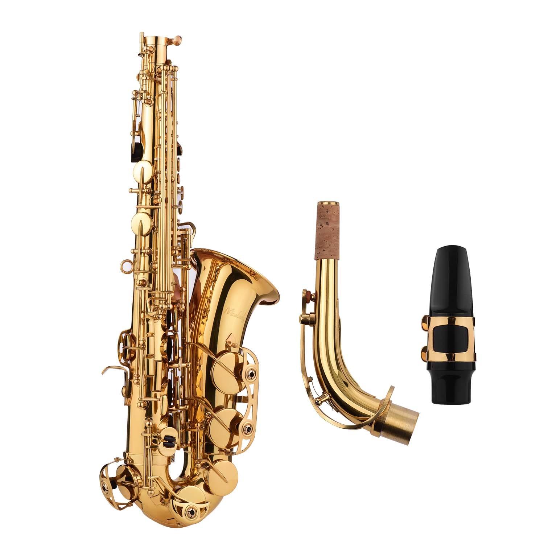 Muslady Golden Eb Altsaxofoon Sax Messing Body Wit Shell Toetsen Houtblazers Instrument Met Carry Case Handschoenen Reinigingsdoekje Borstel - 2