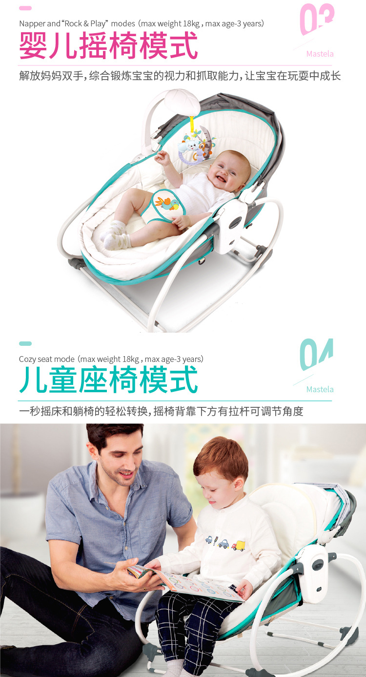 H1b01817e907f44f7b47290698ddab391U Baby Furniture Cradle 5 in 1 baby rocking bed Baby Cradle rocking chair baby recliner portable baby basket baby crib babynest