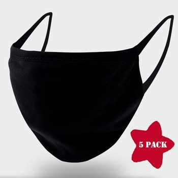 1/5/10pcs Thin Type Face Cotton Mask Washable Breathable Reusable Windproof Dust-resistant Solid Fast Delivery For Baby Kids