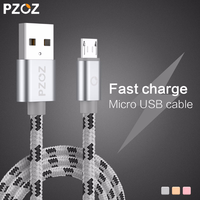 Kabel PZOZ Micro USB Szybkie ładowanie Ładowarka do telefonu Adapter Data Cabel do Samsung Xiaomi Huawei MEIZU SONY Android Charge Microusb