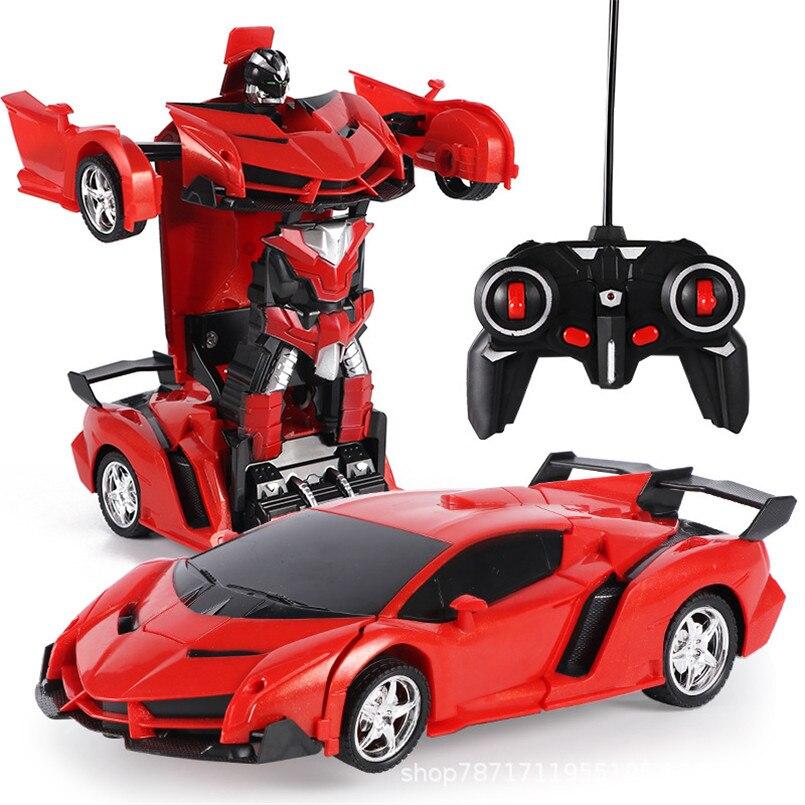 Robot de transformación de coche eléctrico 2 en 1 para niños, robot de transformación, Control remoto, deportes al aire libre, modelo de coche