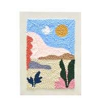 Набор вязаных шерстяных ковриков для рукоделия, ручная работа, шерстяная вышивка, креативный подарок 25x34 см, твердая деревянная рамка, дырок...