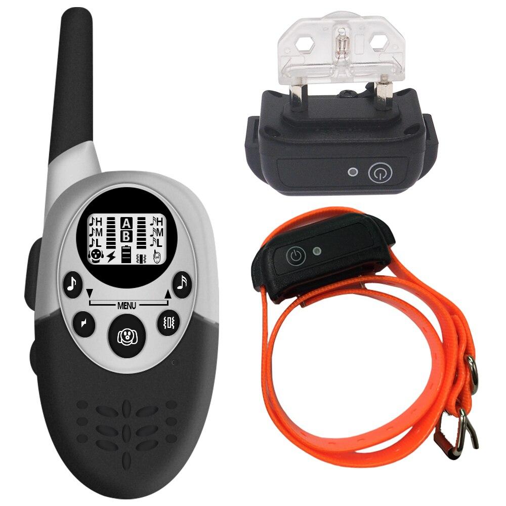 Image 5 - 1000 м водонепроницаемый ошейник для дрессировки собак перезаряжаемый антилай контроль звука напоминающий Вибрационный амортизатор Скидка 40%Ошейник для дрессировки   -