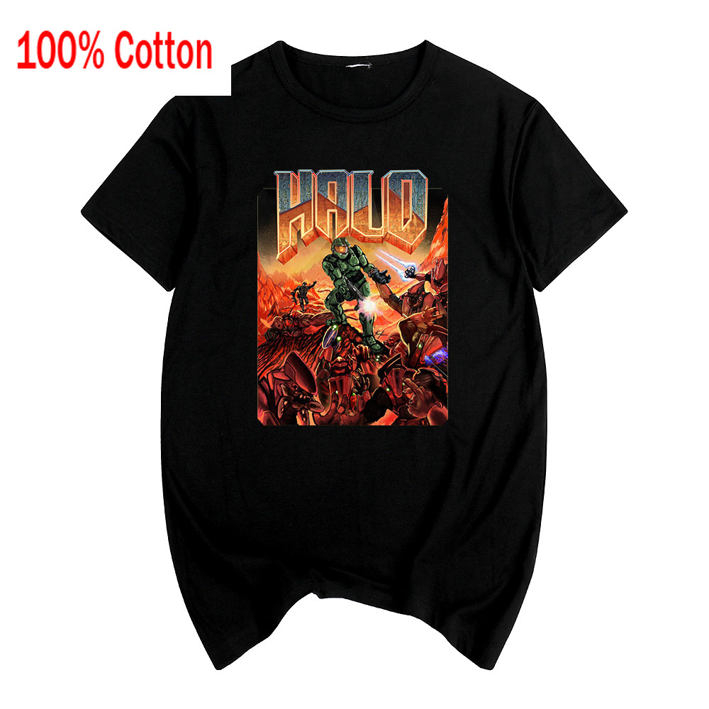 halo Master Chief anime Wars Game T-shirt Cotton Men T shirt New TEE TSHIRT Womens Couple Loves Design Summer image