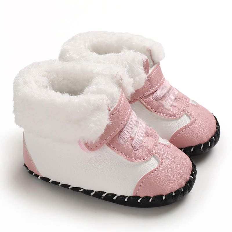 Winter Boots First Walkers Sweet Princess Newborn Baby Girls Shoes Winter Infant Footwear Toddler Kids Girl Shoes