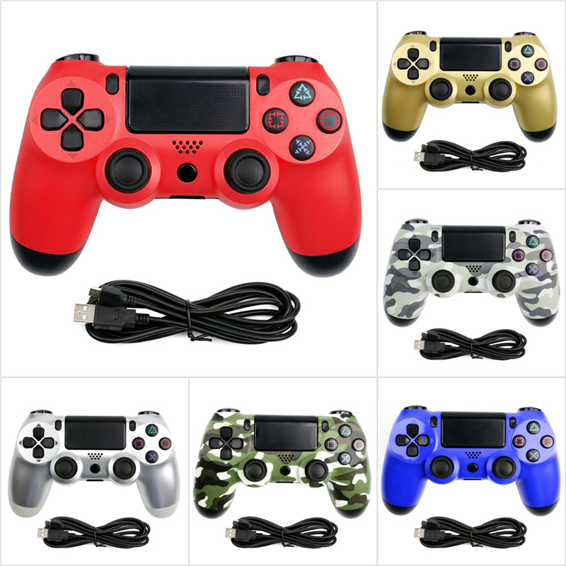 Wired Game Controller For Sony Playstation 4 PS 3 PS4 Console WIN 7 8 10 OS For Dualshock Vibration Joystick Gamepad USB Cable(China)