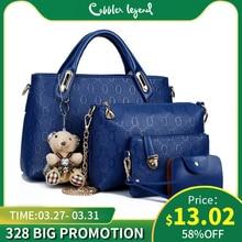 4 Pcs/Set Brand Women Tote Bags Designer Handbags Summer