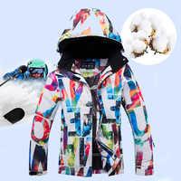 Vestes de Ski d'hiver femmes neige chaud coupe-vent ski costumes Sports d'hiver combinaison Ski enfant Snowboard ensemble