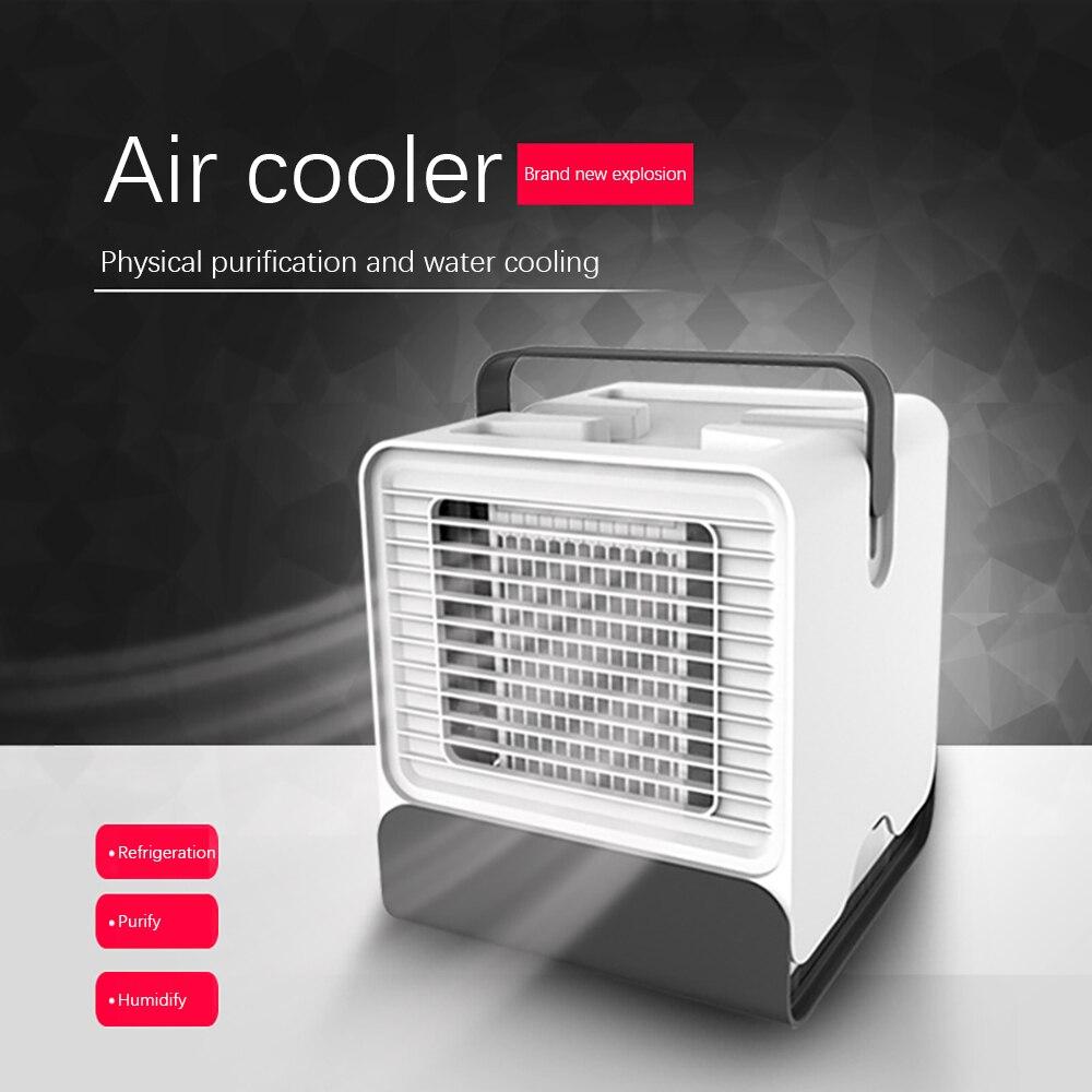 Climatiseur refroidisseur dair humidificateur purificateur Portable pour maison chambre bureau 2 vitesses bureau silencieux ventilateur de refroidissement climatisation