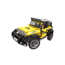Technic Series Yellow Super Jeep Car Model Compatible With Legoingly Building Blocks Brick Toys Boys Birthday Gifts for Children 550pcs diy hot technic series motorbike bricks motorcycle car bicycle building blocks toys for boys compatible with legoingly