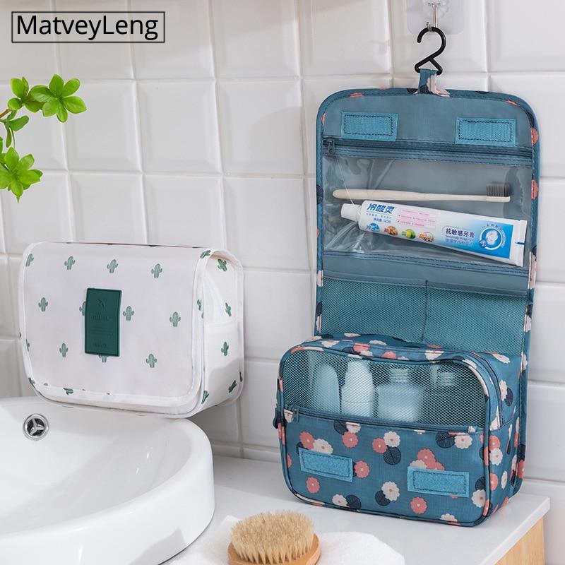 High Quality Women Makeup Bags Travel Cosmetic Bag Toiletries Organizer Waterproof Storage Neceser Hanging Bathroom Wash Bag