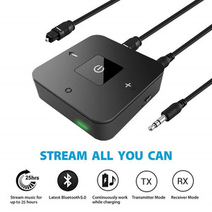 Image 3 - Bluetooth 5.0 Transmitter Receiver Wireless 3.5mm RCA Optical Audio Adapter for Low Latency Dual Link for TV Home Stereos