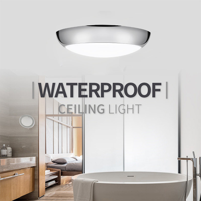 LED Ceiling Lamp Modern Waterproof Panel Light 175-265V Adjustable 3color Bathroom Ceiling Light Indoor Outdoor Corridor Light