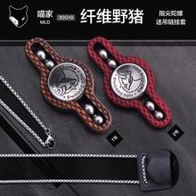 Carbon fiber boar fingertip gyro G10 with tungsten steel bead fingertip gyro EDC fidget spinner metal spinner ring