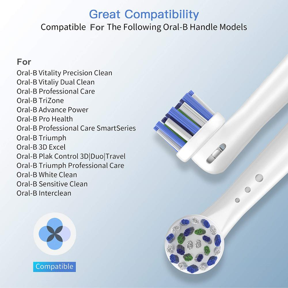 20pcs Sensitive Gum Care Replacement Toothbrush Heads For Braun Oral b toothbrush heads Dual Clean Cross Action Brush Head