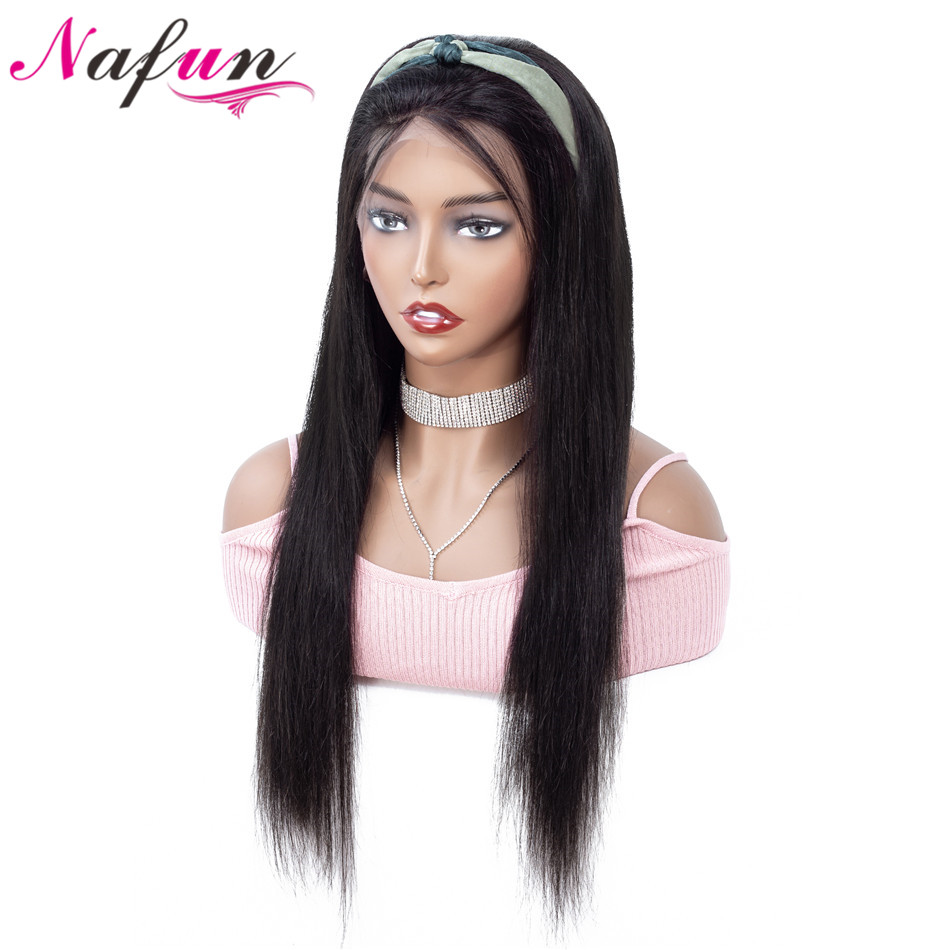 NAFUN 13x4 Lace Front Wigs With Baby Hair For Black Women Peruvian Remy Hair 10 30