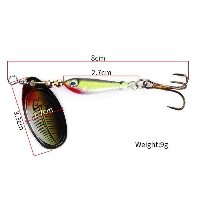 2 Cái/bộ Micro Kim Loại Con Quay Con Spoon Đầm Hình Cá Mồi Dụ Cá Bionic Xoay Nhân Tạo Hình Con Cá Mồi Câu dụng Cụ