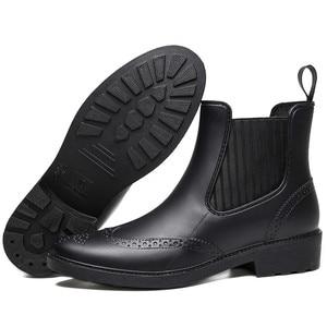 Image 5 - أحذية مطاطية للخريف للنساء أحذية طويلة للمطر برقبة طويلة مضادة للماء مناسبة للكاحل للنساء